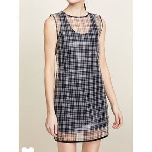 Helmut Lang Plaid Shell Dress